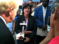 Video #3 speaking to reporter